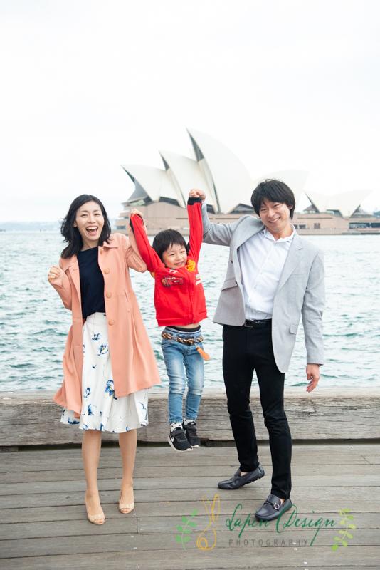 オペラハウス家族写真